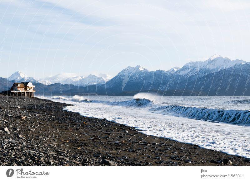 am Meer in Alaska - Alaska 31 Leben Wohlgefühl Ferien & Urlaub & Reisen Ausflug Freiheit Strand Natur Landschaft Urelemente Luft Wasser Herbst Schönes Wetter