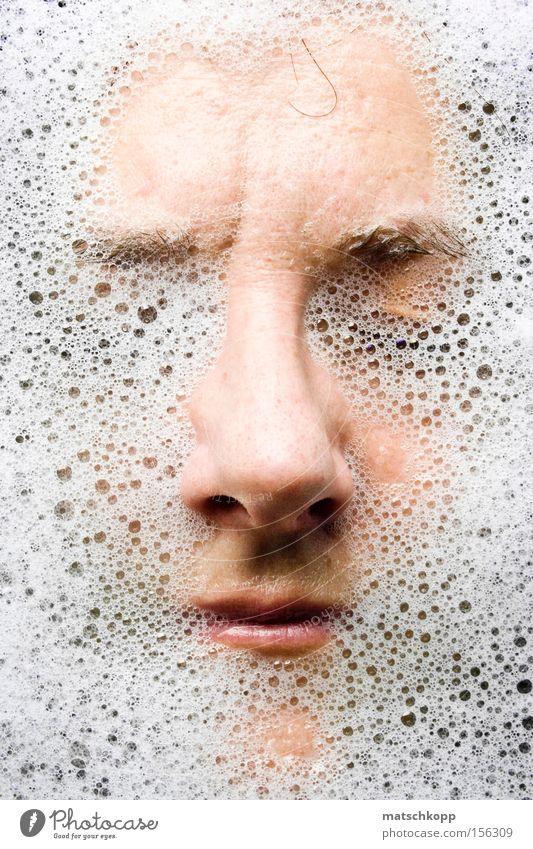Unter.Wasser II Frau Erholung Porträt nass Bad anonym Schaum unkenntlich