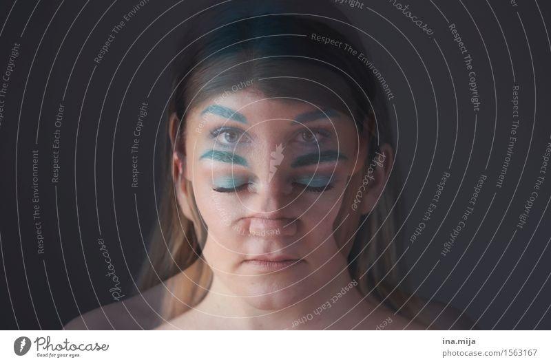 600 | Das Unterbewusstsein schläft nicht Schminke Mensch feminin Junge Frau Jugendliche Erwachsene Leben Gesicht 1 18-30 Jahre 30-45 Jahre Wachsamkeit