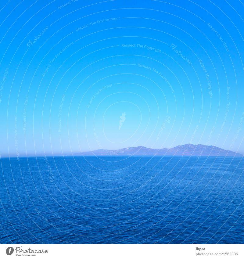 Mittelmeer und Himmel Natur Ferien & Urlaub & Reisen Stadt Pflanze blau schön grün Sommer weiß Baum Meer Landschaft Haus Strand schwarz