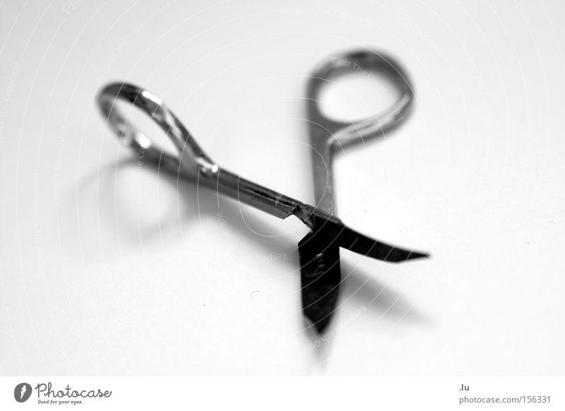 Scherenschnitt II Silhouette Nagelschere kaputt Trennung Teile u. Stücke verbinden Symbiose Zusammensein Freisteller Vergänglichkeit Kostüm Schnittstelle obskur