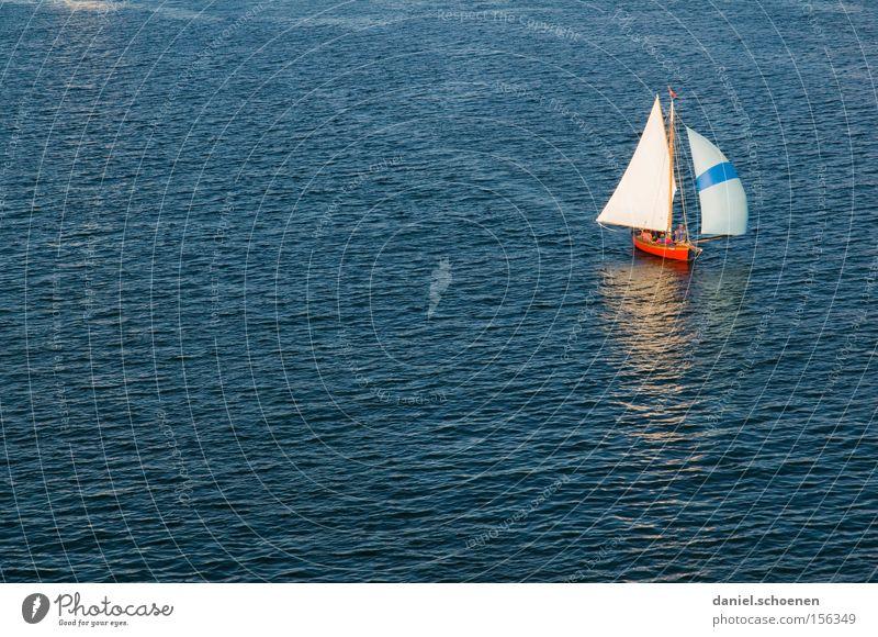 sail away with me honey Wasser weiß Meer blau Wasserfahrzeug Wellen Segeln Fernweh Wassersport Segelschiff