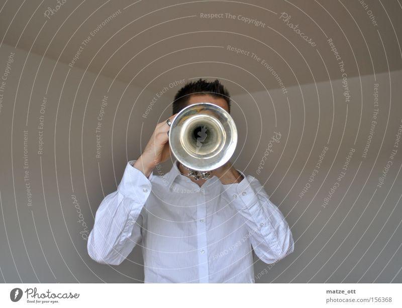 Schau mir in die Trompete Kleines ... Musik Musikinstrument Blasmusik Musikunterricht Musiknoten Notenblatt Posaune Konzert Blechbläser Blasmusikinstrument