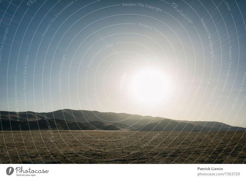 Central Valley Ferien & Urlaub & Reisen Sommer Sonne Umwelt Landschaft Urelemente Luft Himmel Horizont Sonnenaufgang Sonnenuntergang Sonnenlicht Klima