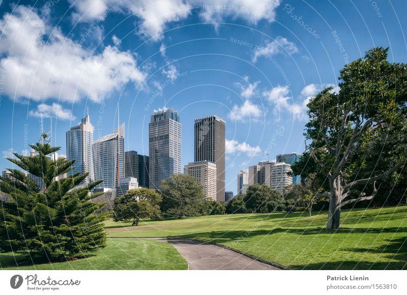 Sydney Ferien & Urlaub & Reisen Sommer Garten Business Himmel Wolken Australien Stadt Stadtzentrum Skyline bevölkert Hochhaus Bankgebäude Park Platz Bauwerk