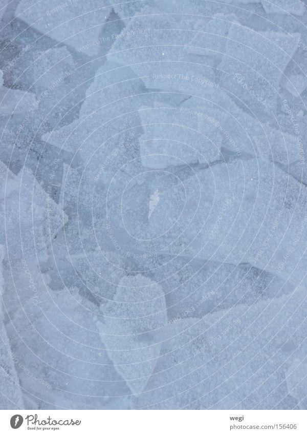 Eis am Chiemsee Winter Natur blau Wasser abstrakt Schnee