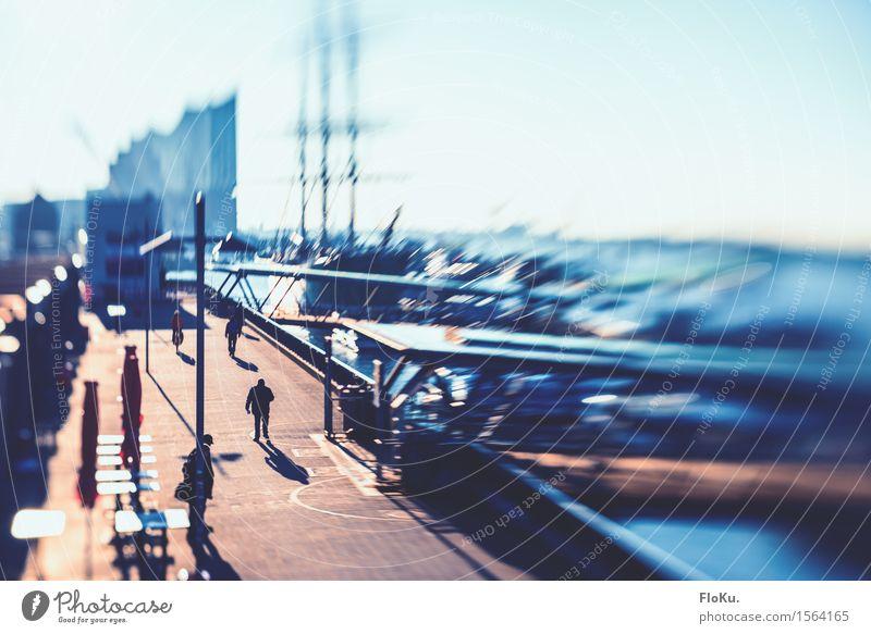 Miniatur Hamburg Sightseeing Städtereise Deutschland Stadt Hafenstadt Stadtzentrum bevölkert Platz Brücke Sehenswürdigkeit Landungsbrücken Wege & Pfade