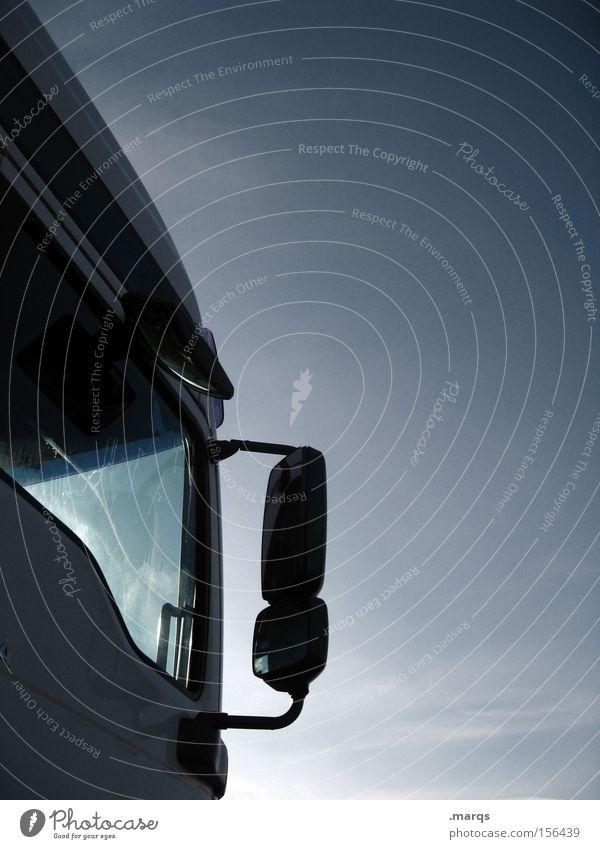 Fernverkehr Straße Arbeit & Erwerbstätigkeit Verkehr Industrie Baustelle fahren Güterverkehr & Logistik Beruf Spiegel Lastwagen Dienstleistungsgewerbe Mobilität