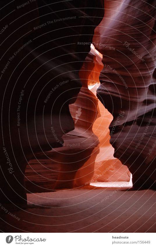Tse bighnilini Berge u. Gebirge Stein Sand Felsen USA Schatten Schlucht Tal Mineralien Höhepunkt Antelope Canyon