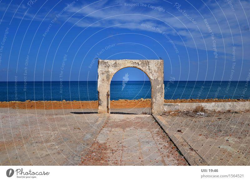 Am Ar***, ähhhh, Ende der Welt................... Himmel Ferien & Urlaub & Reisen Stadt alt blau Meer Erholung Landschaft Ferne Strand Wand Herbst Küste Mauer