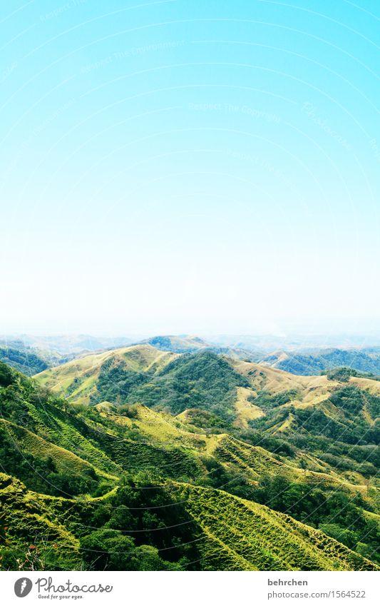 unterwegs Himmel Ferien & Urlaub & Reisen blau grün schön Sommer Baum Landschaft Ferne Wald Berge u. Gebirge Gras außergewöhnlich Freiheit Tourismus Ausflug