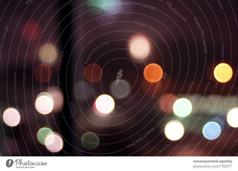 wednesday night lights Licht Nacht Fenster Kreis Bahnhof mehrfarbig Farbe Lampe