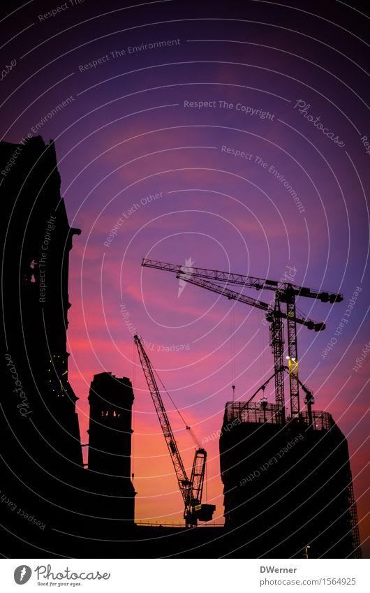 Himmel über Berlin Tourismus Ausflug Ferne Städtereise Haus Renovieren Baustelle Nachthimmel Sonnenaufgang Sonnenuntergang Stadt Hauptstadt Skyline Hochhaus