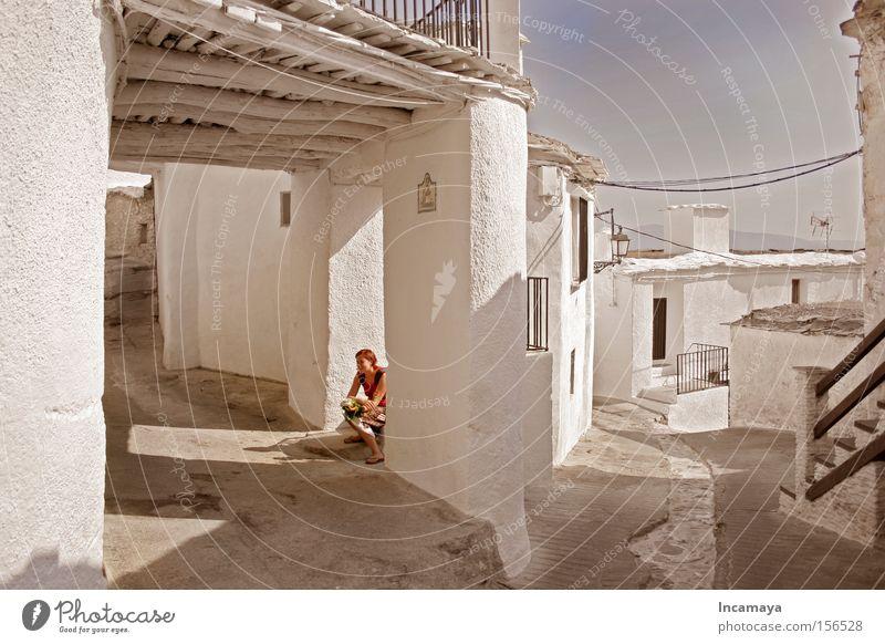 weißes Bergdorf weiß Ferien & Urlaub & Reisen ruhig Erholung Europa Pause Granada Dorf historisch Spanien Gasse Mittag Himmelskörper & Weltall Andalusien Alpujarras Sierra Nevada