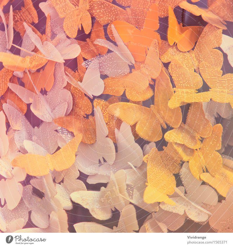 Papier Schmetterlinge Natur schön Sommer Farbe Tier Freude gelb Liebe Frühling Bewegung Stil Kunst Garten Mode fliegen Party
