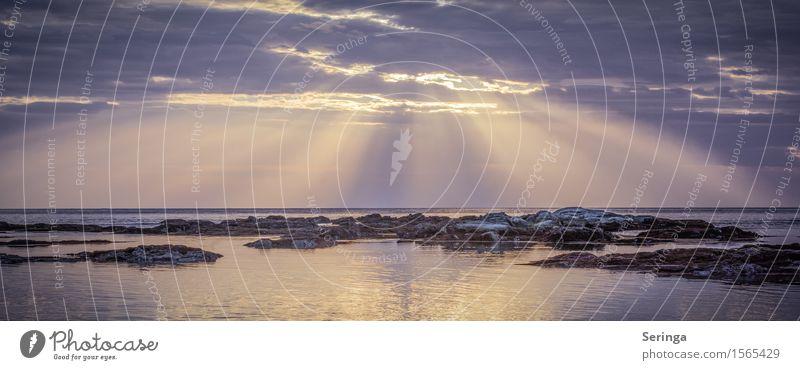 Spiel des Lichtes Ferien & Urlaub & Reisen Meer Natur Landschaft Wasser Himmel Horizont Sonnenaufgang Sonnenuntergang Felsen Küste Bucht Riff atmen genießen