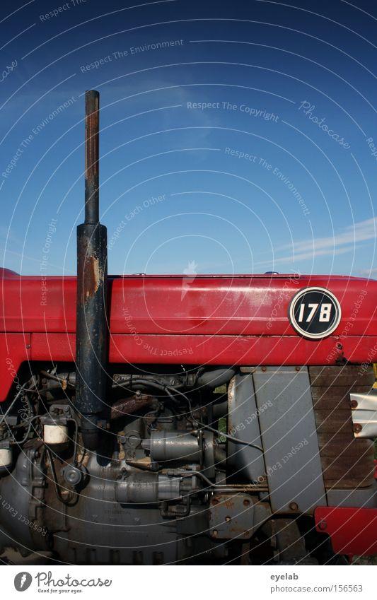 Landei Rennsemmel No.178 Himmel Traktor Landwirtschaft Maschine Kraft Motor Benzin Diesel rot Blech Stahl Industrie Ziffern & Zahlen Erdöl