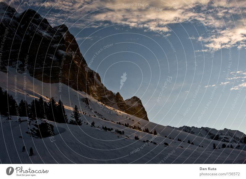 Säntis at Dawn Berg Säntis Berge u. Gebirge Schweiz Klettern Bergsteigen kalt Frost genießen ruhig Frieden Klarheit Zufriedenheit Winter Freude Schnee Eis