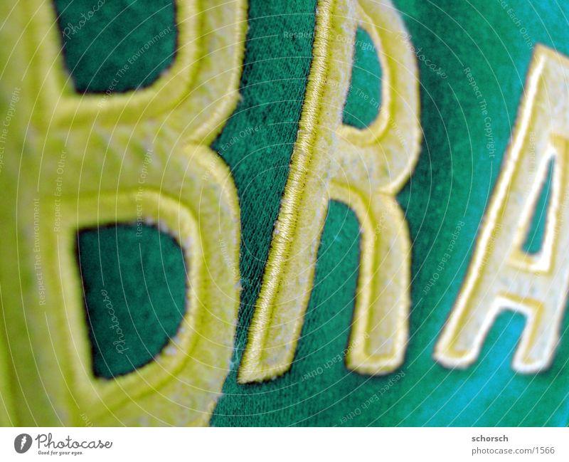 Brazil Buchstaben Typographie Textilien Brasilien Weltmeisterschaft Fototechnik Wort