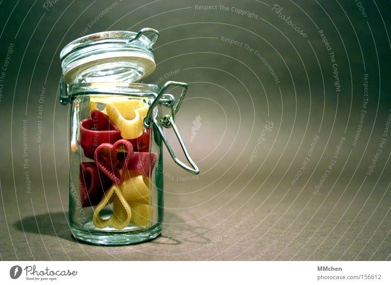 so bleibt die liebe frisch Liebe Herz Glas Nudeln Verliebtheit Valentinstag Vorrat konservieren verheiratet Verlobung