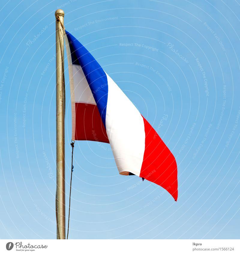 Frankreich Farbe und Welle Himmel Ferien & Urlaub & Reisen blau weiß rot Wolken Wege & Pfade Sport Freiheit fliegen Erde Metall Wind Europa