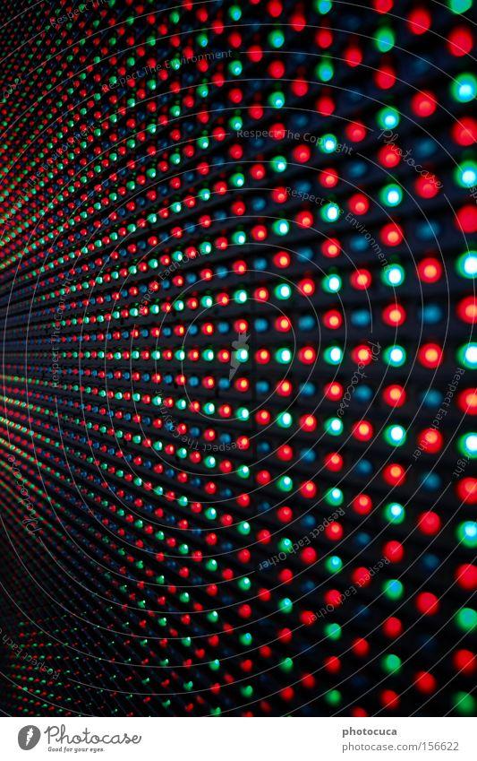 LED Strukturen & Formen Lampe mehrfarbig grün blau Bildschirm rot Leuchtdiode Licht Matrix Callcenter Digitalfotografie Anzeige
