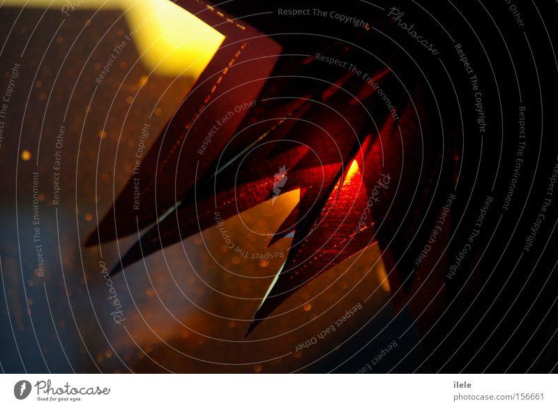 thinking to much about you.. Stern (Symbol) Weihnachten & Advent Sonnenuntergang Licht Unschärfe Kunststoff orange Haus gelb violett schwarz Winter winter kälte