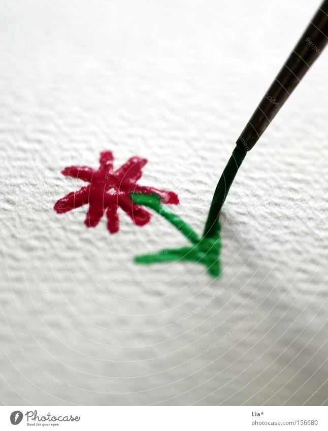 für dich Farbe Blume Freude Farbstoff Kunst Freizeit & Hobby Kindheit Kreativität Lebensfreude Papier Gemälde Zeichnung Basteln Pinsel talentiert Wasserfarbe