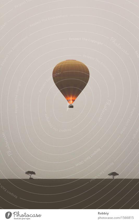 Ballonsafari II Natur Ferien & Urlaub & Reisen Landschaft Ferne Bewegung Freiheit fliegen Horizont Tourismus Luftverkehr Ausflug Abenteuer