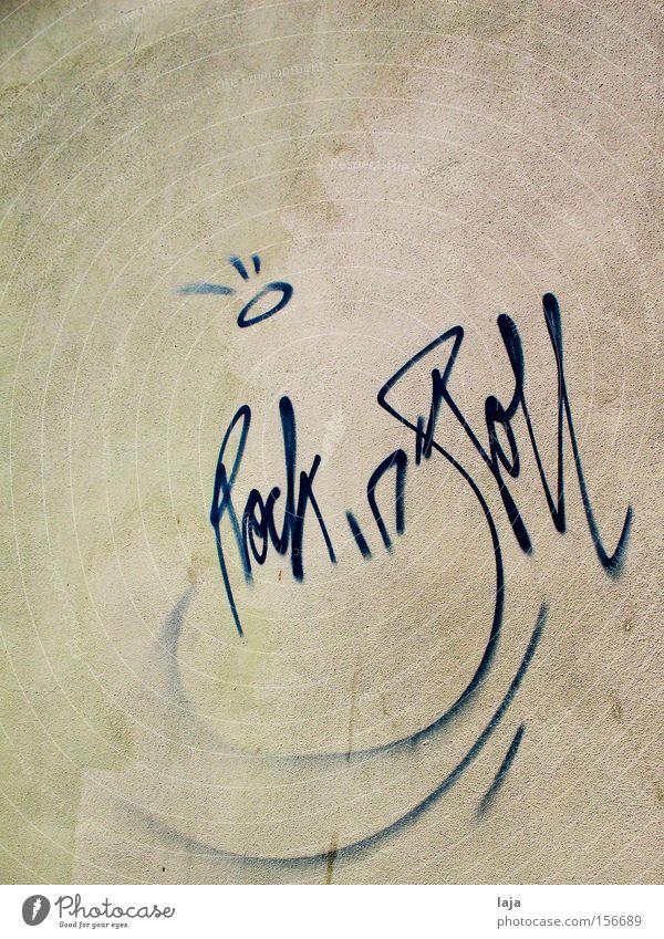 Rock 'n' Roll Haus Wand Musik Graffiti Weimar Besitz Rock `n` Roll Vandalismus Wandmalereien beschmutzen Anarchie