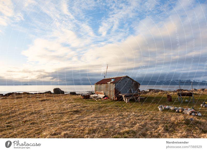 Nordatlantik Himmel Natur Sommer Wasser Meer Landschaft Einsamkeit Wolken ruhig Ferne Architektur Wiese Gras Küste Gebäude Insel