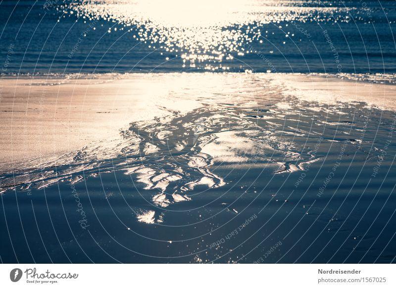 Urelemente Natur Ferien & Urlaub & Reisen Sommer Wasser Sonne Meer Landschaft ruhig Strand Küste Zeit Stimmung Sand Wellen ästhetisch Schönes Wetter