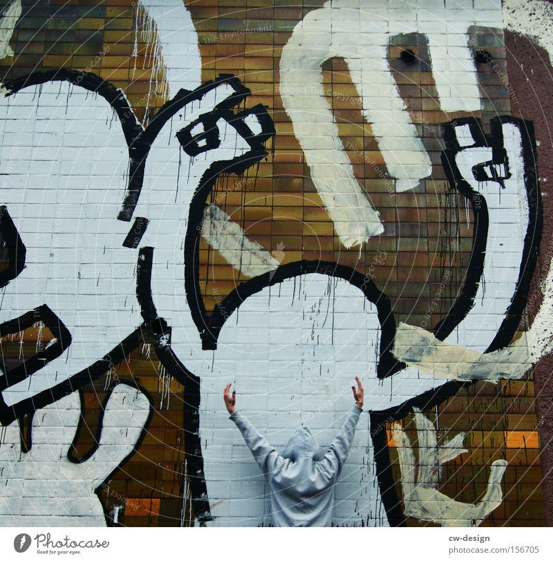 IoI Mensch Mann Jugendliche Mauer Graffiti Kunst Fassade Freizeit & Hobby Gemälde anonym Anstreicher Maler Hiphop Straßenkunst Schmiererei Wandmalereien