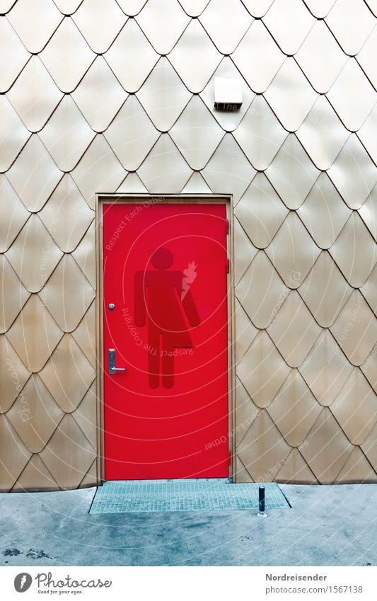 Unisex Ferien & Urlaub & Reisen Stadt rot Architektur Wand Hintergrundbild Gebäude Lifestyle Mauer Fassade Tür modern gold Schilder & Markierungen ästhetisch