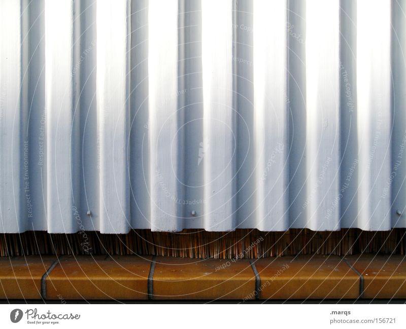 Bast weiß blau schwarz Wand Holz Stein Linie braun Metall Wohnung Fassade Lifestyle Boden Häusliches Leben obskur Balkon