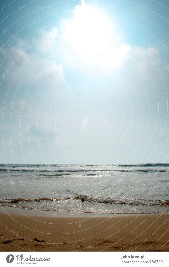 heaven is a place ... Licht Wolken Sonne Himmel Strand Küste Meer Wasser Portugal Algarve Gegenlicht Lichterscheinung blau Himmelskörper & Weltall bläulich