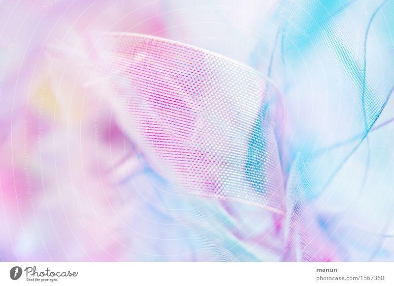 Mädchenzeugs Spielzeug Dekoration & Verzierung Schleife Kitsch Krimskrams Linie Schnur hell weich rosa türkis weiß zart leicht Strukturen & Formen Pastellton