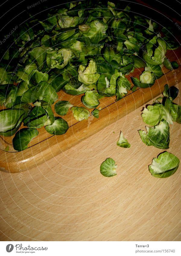Ri-ra-rosenkohl Rosenkohl Gemüse Kohl grün Gesundheit Vitamin Ballaststoff Kohlenhydrate Leben Küche Reinigen Haufen Berge u. Gebirge Ernährung Gastronomie