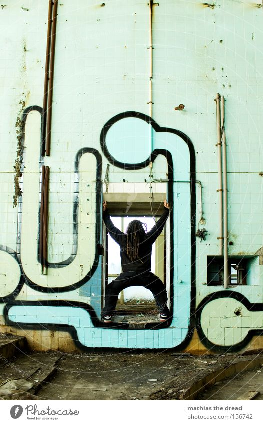 X Mann Farbe Wand Farbstoff Graffiti dreckig stehen Fliesen u. Kacheln verfallen schließen blockieren Wandmalereien Inszenierung Türrahmen X-Men