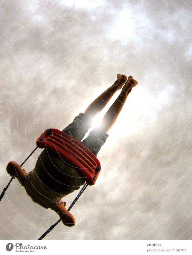 HEIIIDI,HEEEIIIDI... Mensch Kind Jugendliche Sonne Sommer Freude Wolken Freiheit Bewegung Beine Fuß Kindheit Freizeit & Hobby hoch Fröhlichkeit