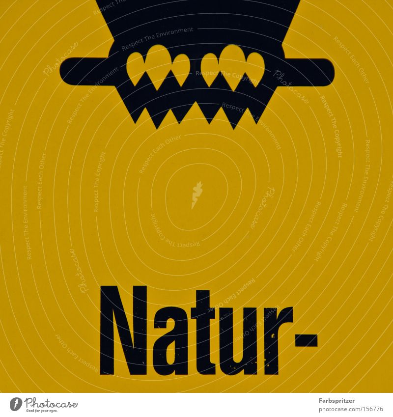 Natur-??? Natur Sommer Winter schwarz gelb Tierfuß Schilder & Markierungen Hinweisschild Umweltschutz Rechteck Vogel Eulenvögel Uhu