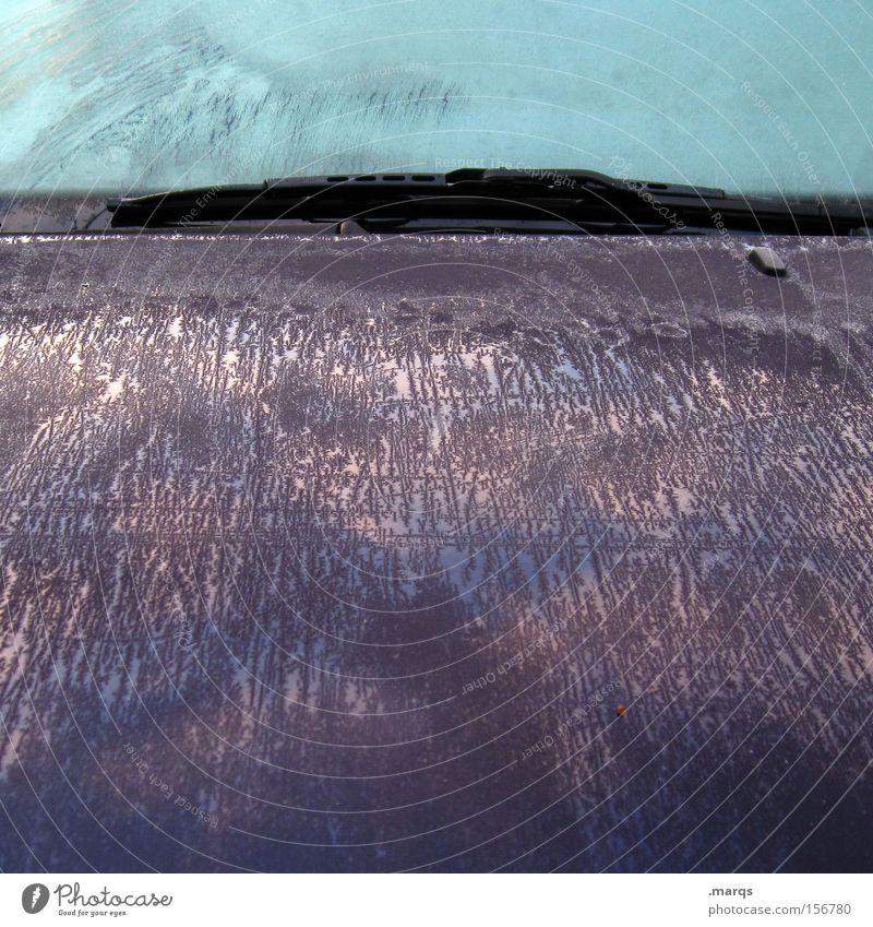 Icy Winter kalt PKW Eis Metall Straßenverkehr Verkehr KFZ fahren Frost violett außergewöhnlich gefroren Autofahren Fahrzeug