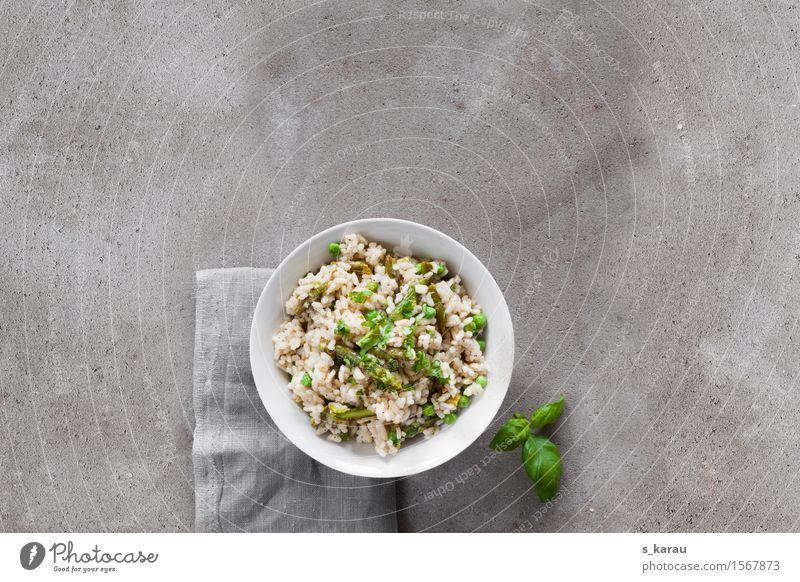 Spargelrisotto Lebensmittel Gemüse Getreide Kräuter & Gewürze Ernährung Mittagessen Abendessen Vegetarische Ernährung Diät Slowfood Schalen & Schüsseln