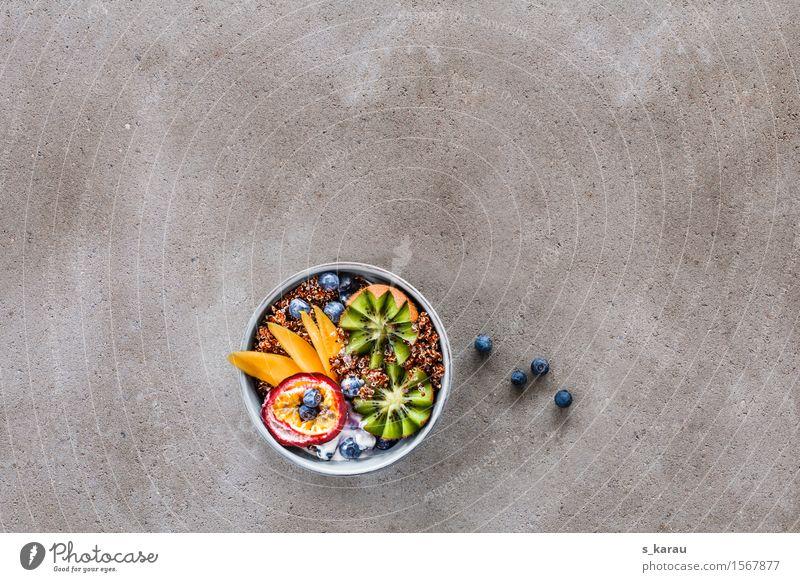 Quinoa Frühstück Gesunde Ernährung Gesundheit Lebensmittel Frucht frisch Textfreiraum Ernährung genießen Beton Getreide Bioprodukte Frühstück Schalen & Schüsseln Mahlzeit Vegetarische Ernährung Diät