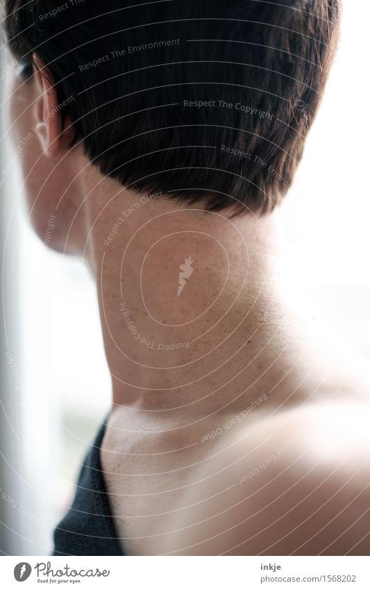 Shortcut Mensch Frau schön Erwachsene Leben natürlich feminin Stil Lifestyle Haare & Frisuren Kopf modern Haut brünett schwarzhaarig Schulter