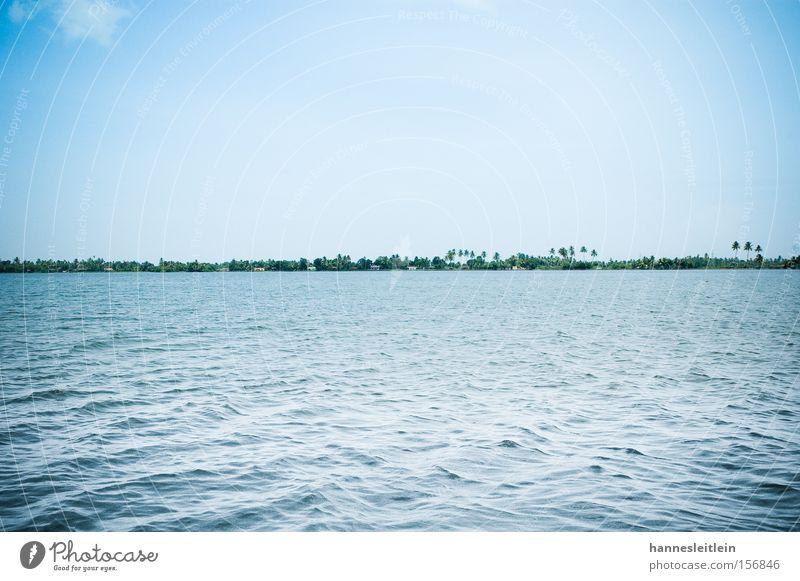Kerala Himmel blau Ferien & Urlaub & Reisen Meer Strand Skyline Palme Indien