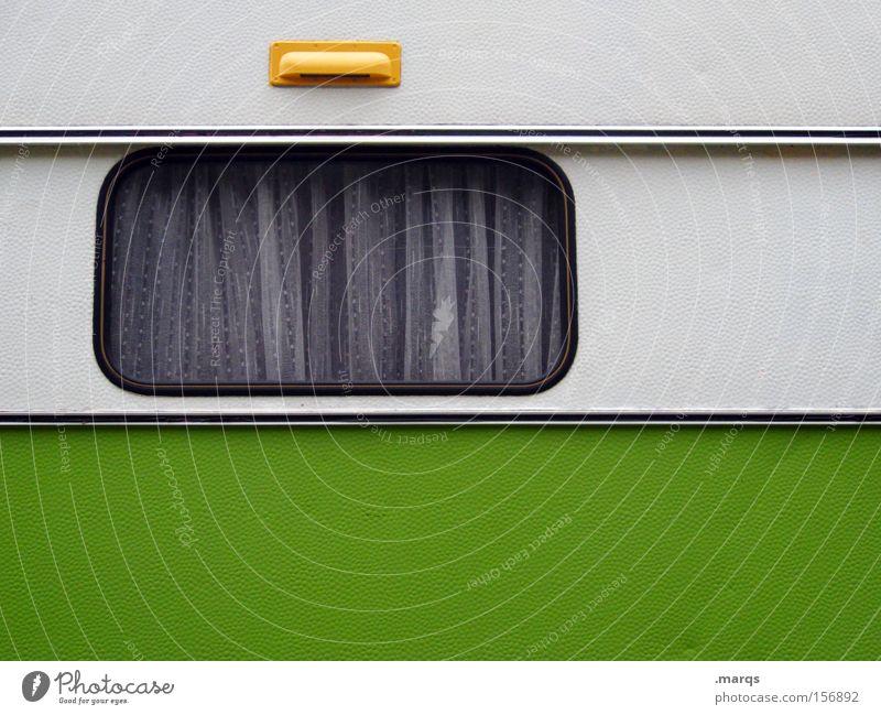 Studentenwohnung weiß grün Sommer Ferien & Urlaub & Reisen Fenster Design Verkehr Lifestyle Freizeit & Hobby Häusliches Leben Camping Vorhang Gardine live