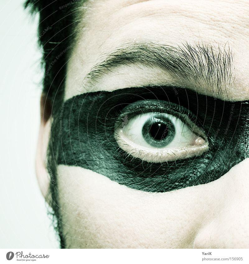 eye-catcher Mann Gesicht Auge Haare & Frisuren Brille Maske Krimineller Held Dieb Wimpern Augenbraue Tarnung Pupille Regenbogenhaut