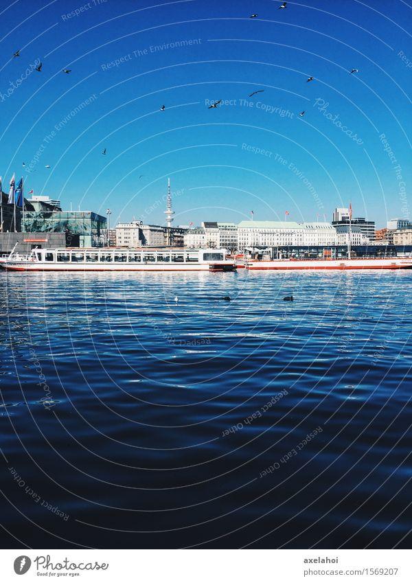 Hamburg Sommer Alster Rundfahrt elegant Wellness Leben harmonisch Wohlgefühl Ferien & Urlaub & Reisen Tourismus Ausflug Abenteuer Städtereise Sommerurlaub