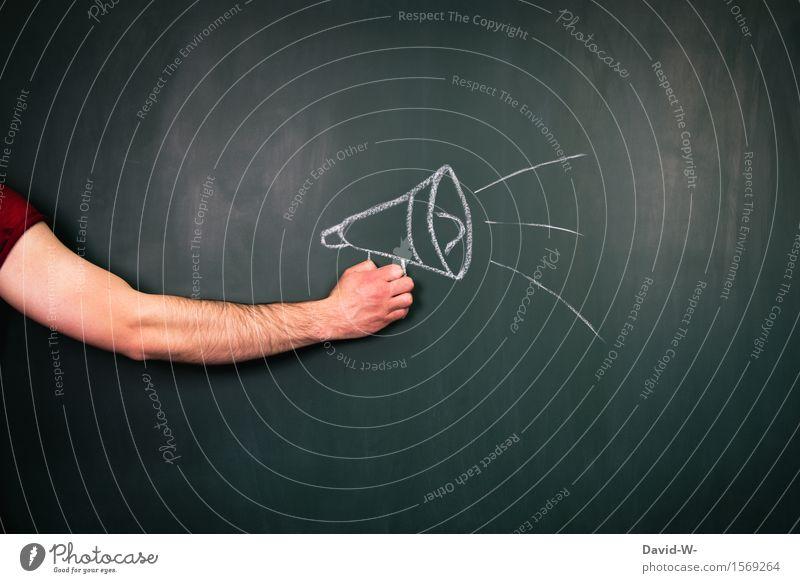 Durchsage Bildung Erwachsenenbildung Tafel Studium Telekommunikation sprechen Mensch maskulin Arme Kunst Künstler Kommunizieren Beratung Business